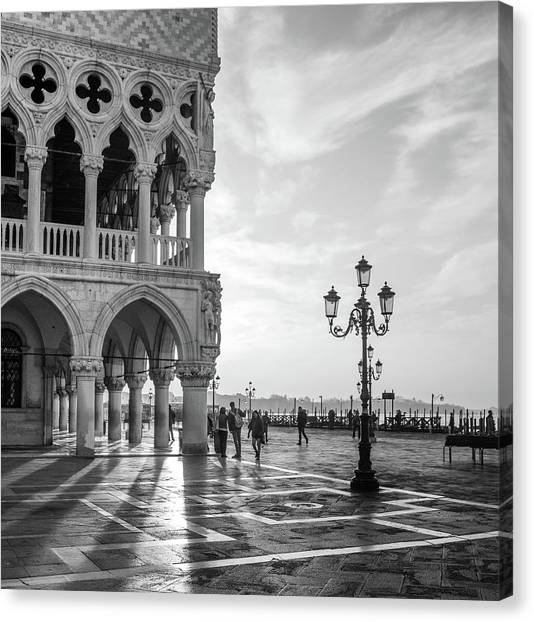 Palace Canvas Print - Early Morning - Venice by Nigel Snape