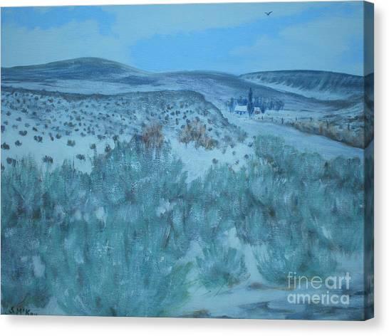 Early Snow In Idaho Canvas Print