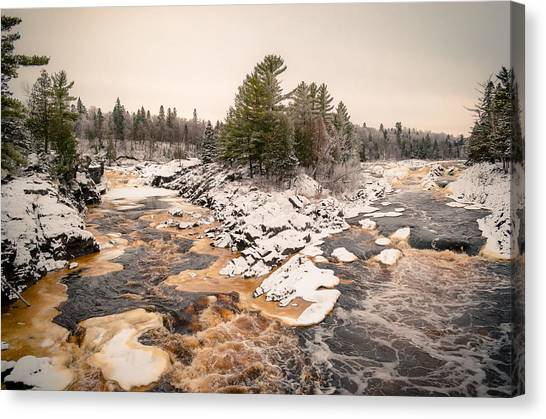 Early Snowfall On The Saint Louis River Canvas Print