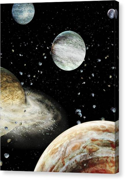 Saturn Canvas Print - Early Solar System Planets by Nicolle R. Fuller