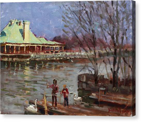 Ontario Canvas Print - Early Spring In Portcredit Mississauga by Ylli Haruni