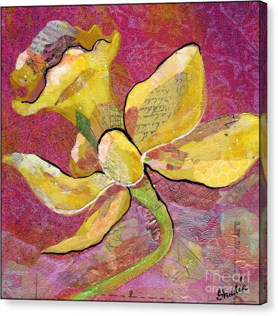 Orchid Canvas Print - Early Spring Iv Daffodil Series by Shadia Derbyshire