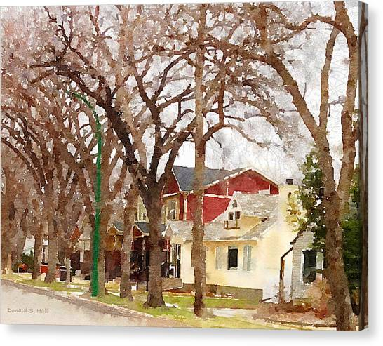 Early Spring Street Canvas Print