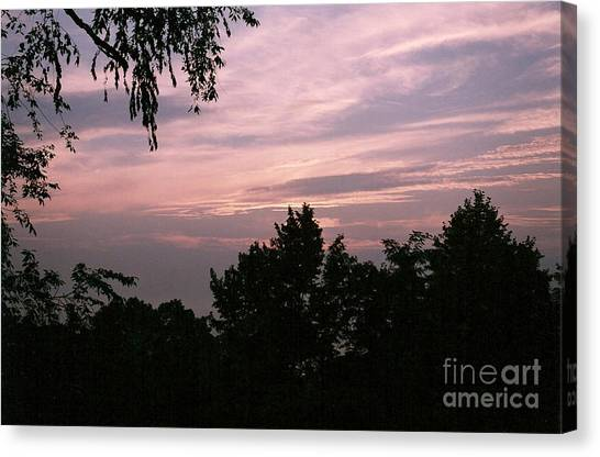 Early Sunrise In Central Illinois Canvas Print