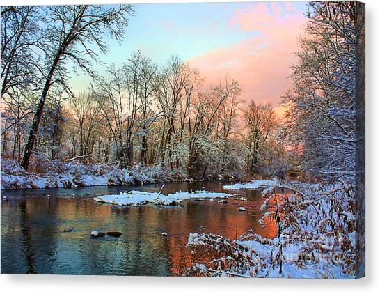 Early Winter Snow Canvas Print by Mike Griffiths