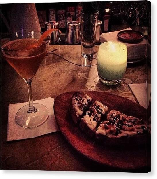 Martini Canvas Print - #earlygrey #martini #gorgonzola by Adam Way