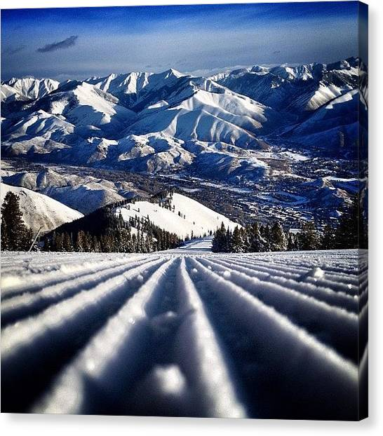 United States Of America Canvas Print - #earlyups #sunvalley by Cody Haskell