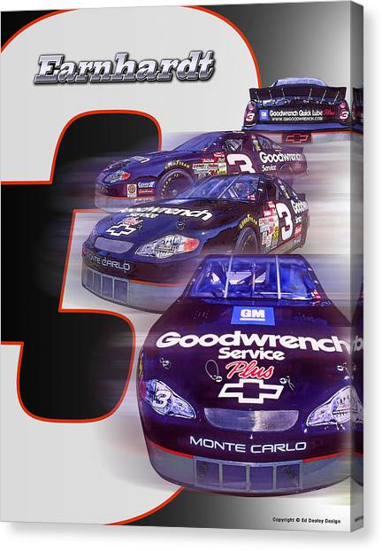 Richard Childress Canvas Print - Earnhardt No. 3 by Ed Dooley