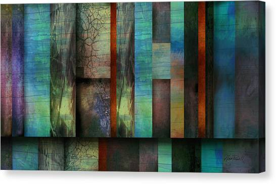 Earth And Sky  Abstract Art  Canvas Print by Ann Powell