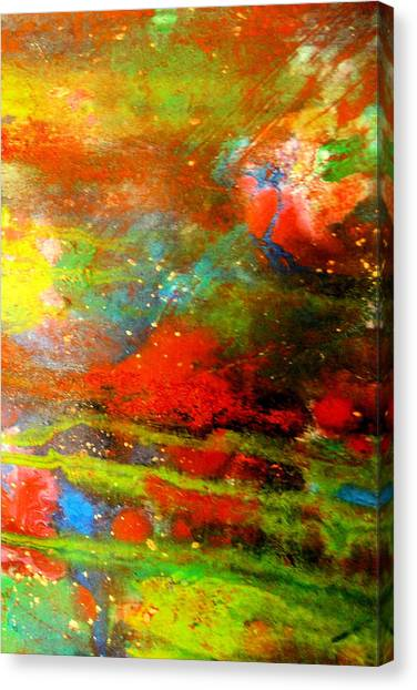 Earth And Sky Abstract Canvas Print