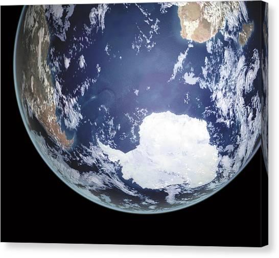 Antarctic Desert Canvas Print - Earth In Space by Mikkel Juul Jensen