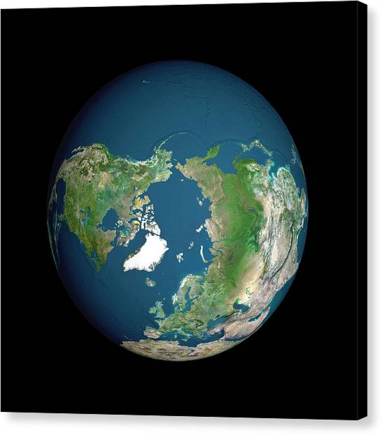 Earth Canvas Print by Planetobserver/science Photo Library