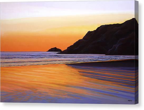 Heaven Canvas Print - Earth Sunrise Sea by Paul Meijering