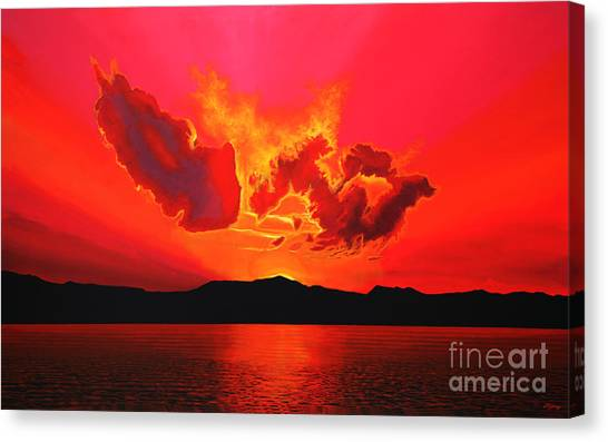 Atlantic Canvas Print - Earth Sunset by Paul Meijering