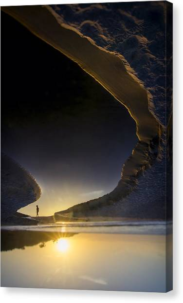 Jogging Canvas Print - Earth Walker by Sean Foster