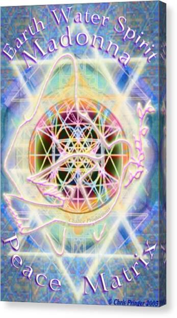 Earth Water Spirit Madonna Peace Matrix Canvas Print