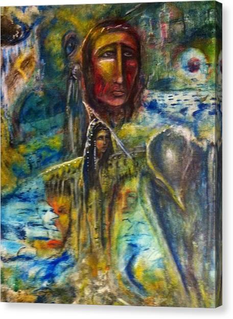 Earth Woman 2 Canvas Print