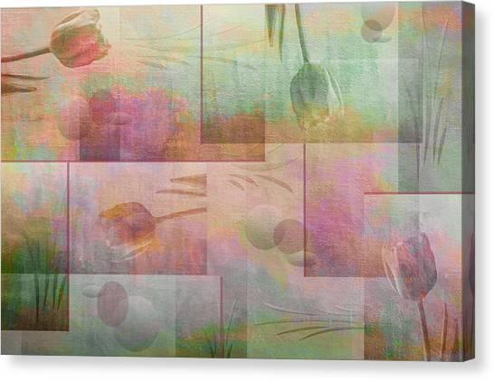 Frank Stella Canvas Print - Earthly Garden by Linda Dunn
