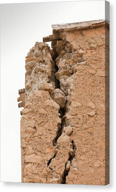 Earthquake Canvas Print - Earthquake Damage In Lorca by Ashley Cooper