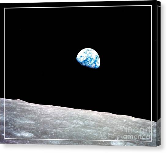 Canvas Print featuring the photograph Earthrise Nasa by Rose Santuci-Sofranko