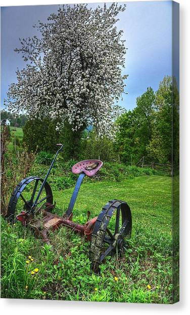 East Albany Mower Canvas Print