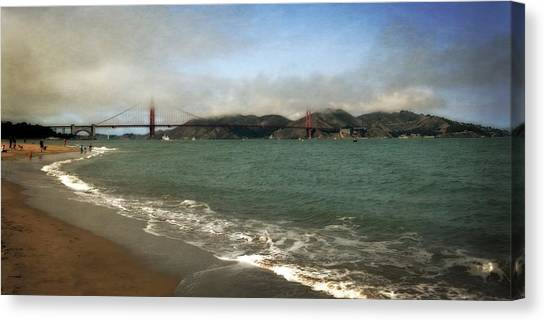 East Beach And Golden Gate Canvas Print
