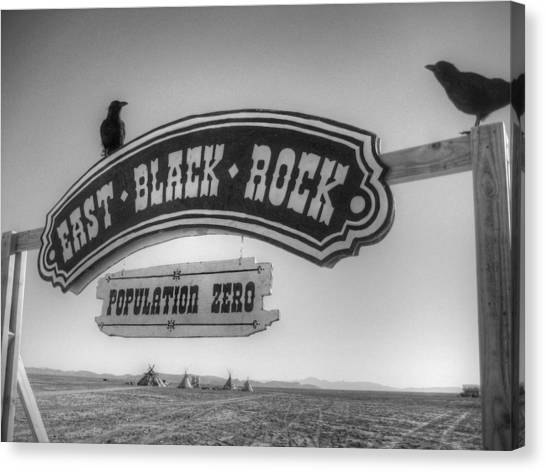 Black Rock Desert Canvas Print - East Black Rock by Jane Linders