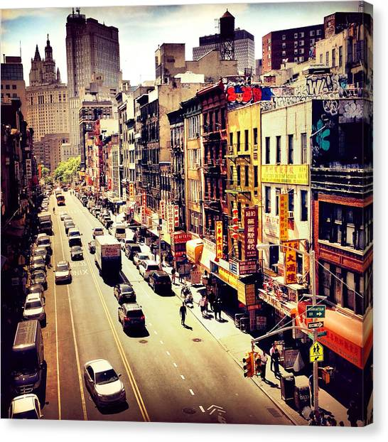 Chinatown Canvas Print - East Broadway - Chinatown - New York City by Vivienne Gucwa