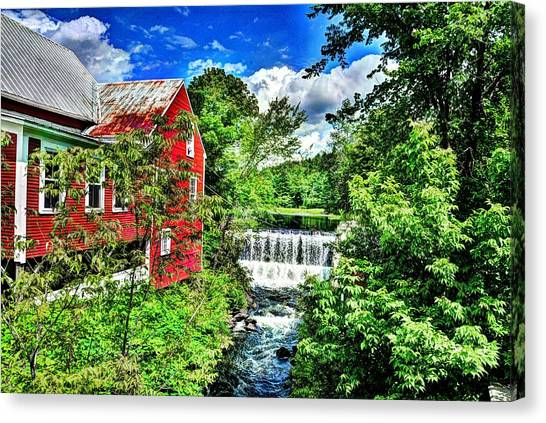 East Calais Water Powered Mill Canvas Print