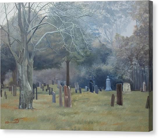 East End Cemetery Amagansett Canvas Print