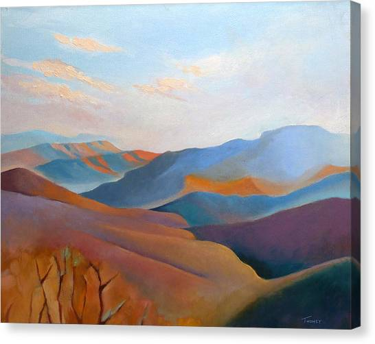 Shenandoah National Park Canvas Print - East Fall Blue Ridge No.3 by Catherine Twomey