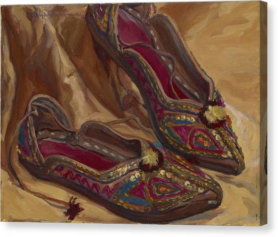 East Indian Shoes Canvas Print
