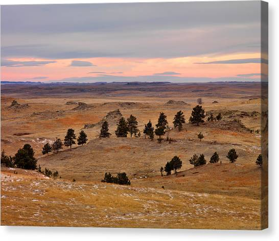 East Montana Country Canvas Print by Leland D Howard