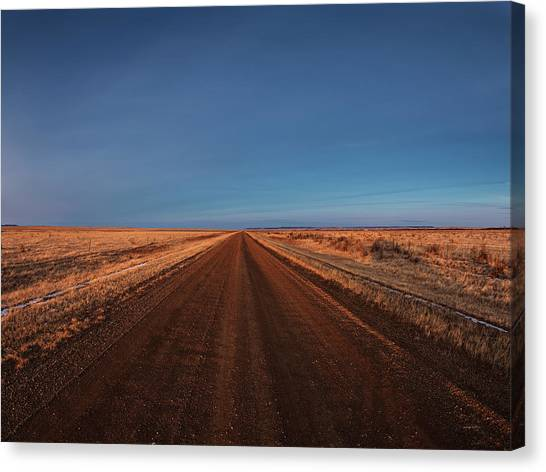 Dirt Road Canvas Print - East Montana Rural by Leland D Howard