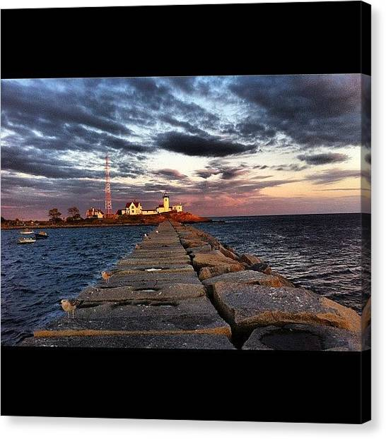 Lighthouses Canvas Print - East Point #lighthouse #iphone by Corey Sheehan