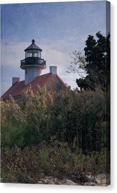 Renovation Canvas Print - East Point Lighthouse by Joan Carroll