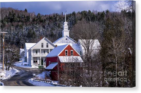 East Topsham Vermont. Canvas Print