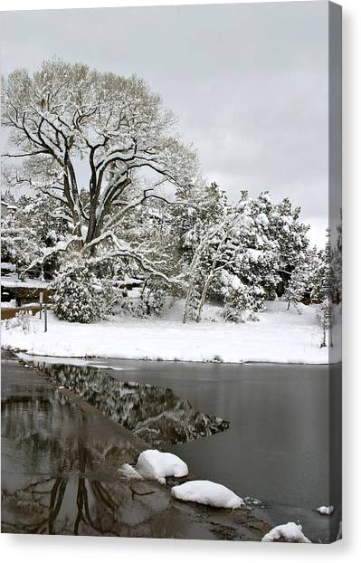 East Verde Winter Crossing Canvas Print