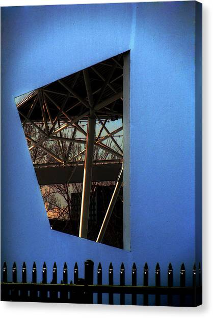 East Wall Of The Marcus Amphitheater At Summerfest Canvas Print by David Blank