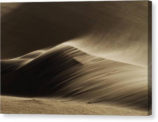 Namib Desert Canvas Print - East Wind In The Namib Desert by Xenia Ivanoff-erb