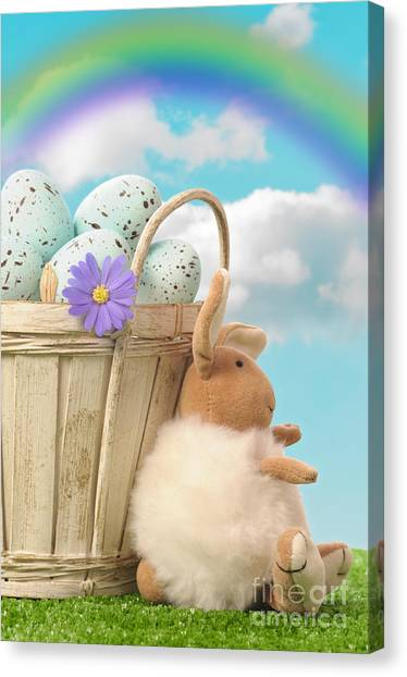 Easter Baskets Canvas Print - Easter Basket by Amanda Elwell
