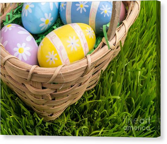 Easter Baskets Canvas Print - Easter Basket by Edward Fielding