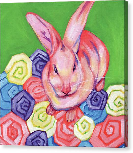 Easter Bunny Canvas Print - Easter Bunny by Anne Seay