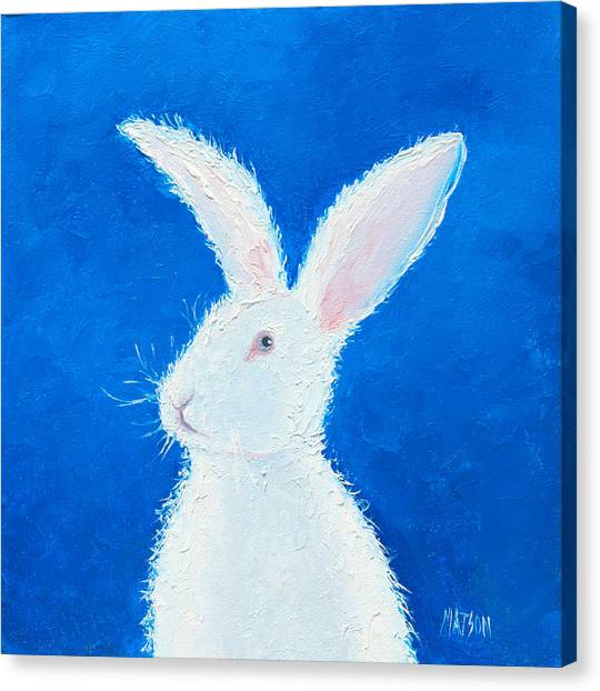 Easter Bunny Canvas Print - Easter Bunny by Jan Matson