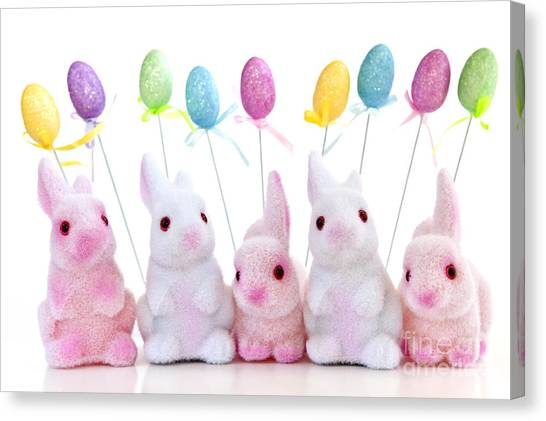 Easter Bunny Canvas Print - Easter Bunny Toys by Elena Elisseeva