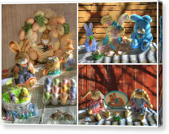 Easter Baskets Canvas Print - Easter Collage 2 by Donna Kennedy
