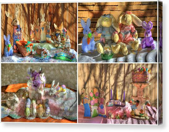 Easter Baskets Canvas Print - Easter Collage by Donna Kennedy