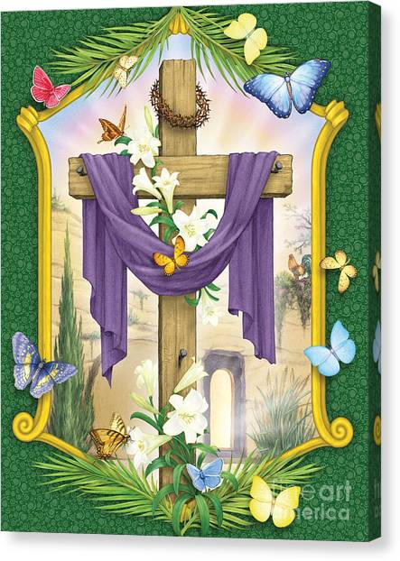 Easter Cross Canvas Print