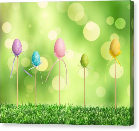 Easter Eggs Canvas Print - Easter Eggs by Amanda Elwell