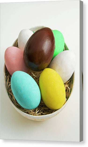 Easter Baskets Canvas Print - Easter Eggs, Spring Eggs by Nico Tondini